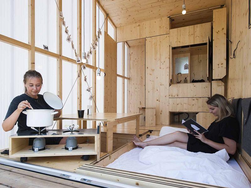 Anerkennung – Wohnungsbau: Leben in 35 Kubik Tiny House